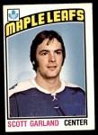 1976 O-Pee-Chee NHL #243  Scott Garland  Front Thumbnail