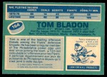 1976 O-Pee-Chee NHL #164  Tom Bladon  Back Thumbnail