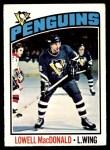 1976 O-Pee-Chee NHL #33  Lowell MacDonald  Front Thumbnail