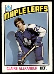 1976 O-Pee-Chee NHL #321  Claire Alexander  Front Thumbnail