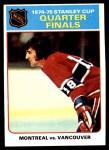 1975 Topps #5   Quarter Finals  Front Thumbnail