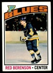 1976 Topps #236  Red Berenson  Front Thumbnail
