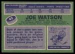 1976 Topps #45  Joe Watson  Back Thumbnail