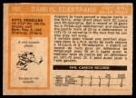 1972 O-Pee-Chee #195  Darryl Edestrand  Back Thumbnail