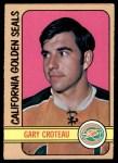 1972 O-Pee-Chee #3  Gary Croteau  Front Thumbnail
