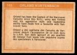 1972 O-Pee-Chee #149   -  Orland Kurtenbach In Action Back Thumbnail