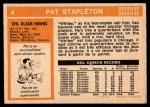 1972 O-Pee-Chee #4  Pat Stapleton  Back Thumbnail