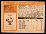 1972 O-Pee-Chee #204  Leon Rochefort  Back Thumbnail
