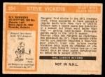 1972 O-Pee-Chee #254  Steve Vickers  Back Thumbnail