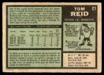 1971 O-Pee-Chee #21  Tom Reid  Back Thumbnail