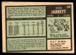 1971 O-Pee-Chee #208  Doug Jarrett  Back Thumbnail