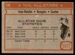 1972 Topps #130  Jean Ratelle  Back Thumbnail