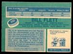 1976 O-Pee-Chee NHL #332  Bill Flett  Back Thumbnail
