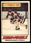 1977 O-Pee-Chee #263   Stanley Cup Semi-Finals - Bruins Advance to Finals Front Thumbnail