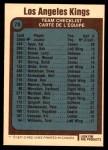 1977 O-Pee-Chee #78   Kings Team Back Thumbnail