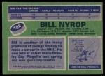 1976 Topps #188  Bill Nyrop  Back Thumbnail