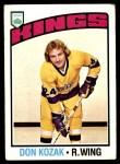 1976 Topps #185  Don Kozak  Front Thumbnail