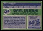 1976 Topps #179  Darryl Edestrand  Back Thumbnail