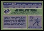 1976 Topps #93  Jean Potvin  Back Thumbnail