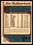 1977 O-Pee-Chee #239  Jim Rutherford  Back Thumbnail