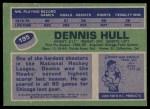 1976 Topps #195  Dennis Hull  Back Thumbnail