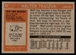 1972 Topps #14  Walt Tkaczuk  Back Thumbnail
