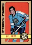 1972 O-Pee-Chee #115  Syl Apps  Front Thumbnail