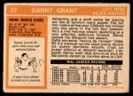 1972 O-Pee-Chee #57  Danny Grant  Back Thumbnail