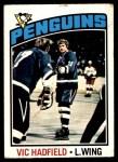 1976 O-Pee-Chee NHL #226  Vic Hadfield  Front Thumbnail