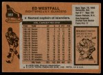 1975 Topps #302  Ed Westfall   Back Thumbnail