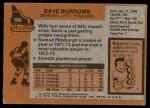 1975 Topps #186  Dave Burrows   Back Thumbnail