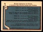 1977 O-Pee-Chee #263   Stanley Cup Semi-Finals - Bruins Advance to Finals Back Thumbnail