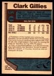 1977 O-Pee-Chee #250  Clark Gillies  Back Thumbnail