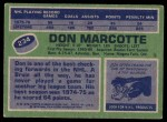 1976 Topps #234  Don Marcotte  Back Thumbnail