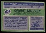 1976 Topps #167  Grant Mulvey  Back Thumbnail