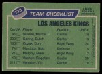 1976 Topps #139   Kings Team Back Thumbnail