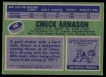 1976 Topps #92  Chuck Arnason  Back Thumbnail