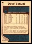 1977 O-Pee-Chee #353  Dave Schultz  Back Thumbnail