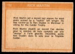 1972 O-Pee-Chee #182   -  Richard Martin In Action Back Thumbnail