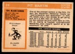 1972 O-Pee-Chee #24  Pit Martin  Back Thumbnail