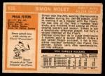 1972 O-Pee-Chee #125  Simon Nolet  Back Thumbnail