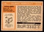 1972 O-Pee-Chee #136  Gilbert Perreault  Back Thumbnail