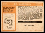 1972 O-Pee-Chee #242  Ted McAneeley  Back Thumbnail