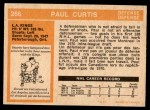 1972 O-Pee-Chee #266  Paul Curtis  Back Thumbnail