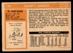 1972 O-Pee-Chee #120  Garry Unger  Back Thumbnail