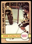 1972 O-Pee-Chee #30   Playoff Game 3 - Bruins / Rangers Front Thumbnail
