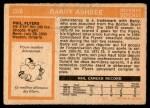 1972 O-Pee-Chee #206  Barry Ashbee  Back Thumbnail