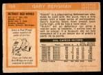 1972 O-Pee-Chee #164  Gary Bergman  Back Thumbnail