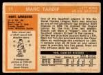 1972 O-Pee-Chee #11  Marc Tardif  Back Thumbnail