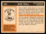 1972 O-Pee-Chee #323  Bob Wall  Back Thumbnail